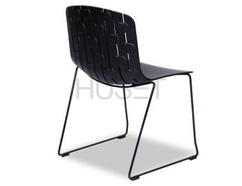Gotcha Chair Black with Black Sled Legs by Enrique Marti Associates for OOLand image