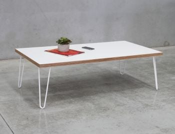 Bernie White Plywood Coffee Table Custom Made in Melbourne image