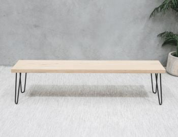 Bernie Bench Seat Solid Vic Ash Custom Made in Melbourne image