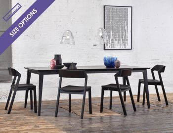 Black Stained Jutland Solid European Beechwood Dining Table by Mads Johansen for TON image