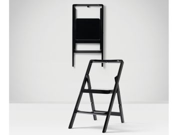 Black Mini Stepladder by Karl Malmvall for Design House Stockholm image