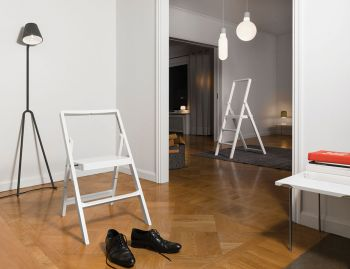 White Mini Stepladder by Karl Malmvall for Design House Stockholm image