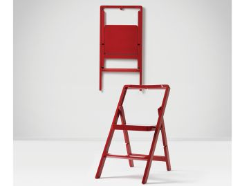 Red Mini Stepladder by Karl Malmvall for Design House Stockholm image