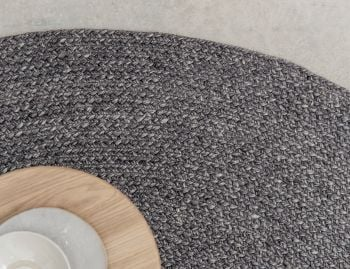 Braid Weave Charcoal Round Rug by Armadillo & Co image