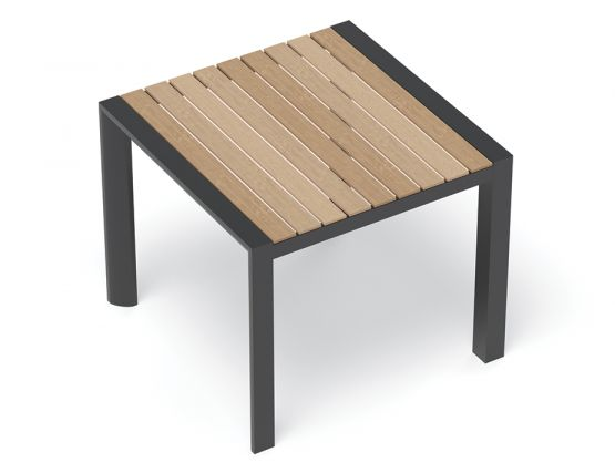 Patio Table Outdoor Small Modern Timber
