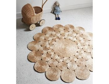 Camellia Jute Weave 1.22m Natural Round Rug by Armadillo & Co image