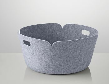 Grey Restore Round Basket by Mika Tolvanen for Muuto image