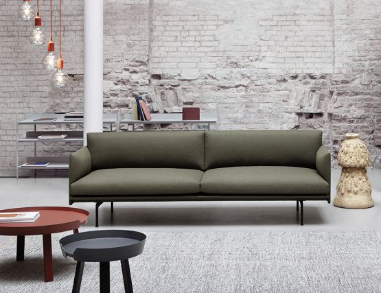 Outline Sofa Fabric Green Muuto
