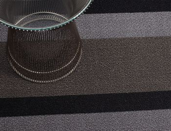 Shag Black and Sliver Bold In/Outdoor Floor Mat by Chilewich image