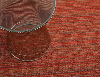 Shag Orange Skinny Stripe In/Outdoor Floor Mat by Chilewich image