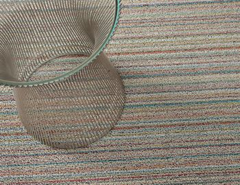 Shag Soft Multi Skinny Stripe In/Outdoor Floor Mat by Chilewich image