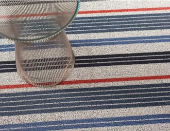 Shag Montauk Mixed Stripe In/Outdoor Floor Mat by Chilewich image