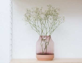 Elevated Vase in Rose by Thomas Bentzen for Muuto image