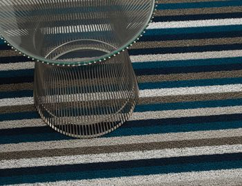 Shag Marine Even Stripe In/Outdoor Floor Mat by Chilewich image