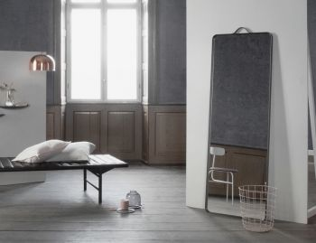 Norm Floor Mirror in Black by Norm Architects for Menu image