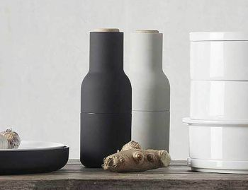 Bottle Grinder Set Ash/Carbon by Norm Architects for Menu image