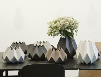 Folded Vase Tall in Carbon by Amanda Betz for Menu image