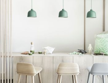 Dusty Green Grain Pendant by Jens Fager for Muuto image