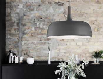 Acorn Pendant in Matte Grey by Atle Tveit for Northern  image