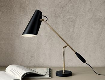 Birdy Table Lamp Black Brass by Birger Dahl for Northern image