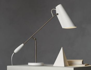 Birdy Table Lamp White Metallic by Birger Dahl for Northern  image
