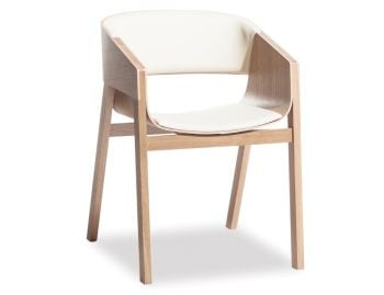 Merano Natural Oak Armchair w White Pad by Alex Gufler for TON image