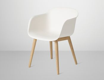 Fiber Armchair with Wood Base by Iskos Berlin for Muuto image