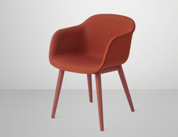 Fiber Armchair Upholstered with Wood Base by Iskos Berlin for Muuto image