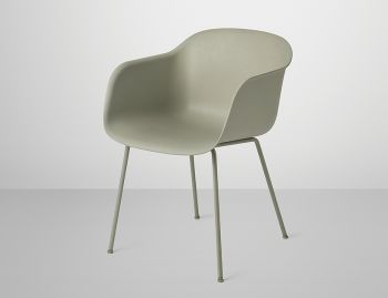 Fiber Armchair with Tube Base by Iskos Berlin for Muuto image