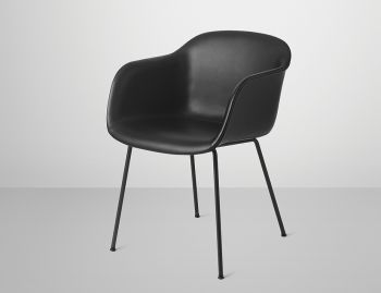 Fiber Armchair Upholstered with Tube Base by Iskos Berlin for Muuto image