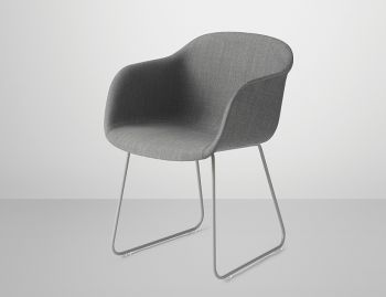Fiber Armchair Upholstered with Sled Base by Iskos Berlin for Muuto image