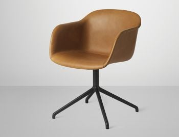 Fiber Armchair Upholstered with Swivel Base by Iskos Berlin for Muuto image