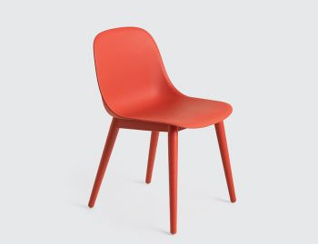 Fiber Side Chair with Wood Base by Iskos Berlin for Muuto image