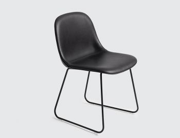 Fiber Side Chair Upholstered with Sled Base by Iskos Berlin for Muuto image