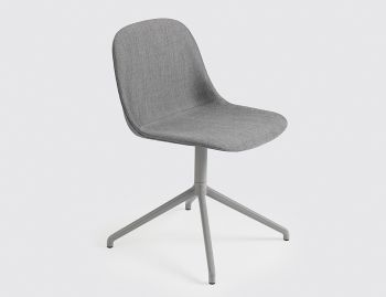 Fiber Side Chair Upholstered with Swivel Base by Iskos Berlin for Muuto image