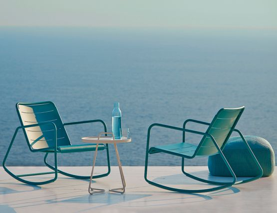 Aqua Rocking Chairs