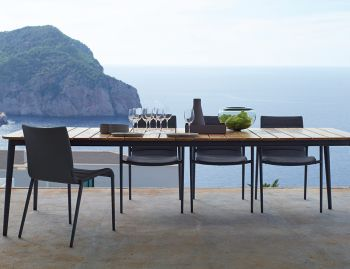 Core Grey Outdoor Dining Chair by Foersom & Hiort-Lorenzen for Cane-line image