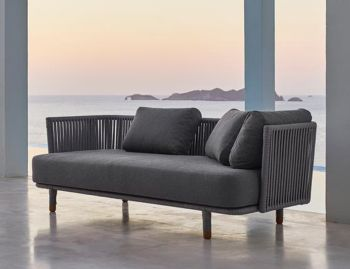 Moments Grey 3 Seat Outdoor Sofa by Foersom & Hiort-Lorenzen For Cane-line image