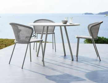 Lean White Outdoor Chair by Welling & Ludvik For Cane-line image