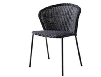 Lean Black Outdoor Chair by Welling & Ludvik For Cane-line image