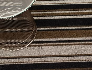 Shag Luxe Mixed Stripe In/Outdoor Door Mat (46 x 71cm) by Chilewich image