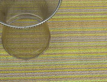 Shag Citron Skinny Stripe In/Outdoor Floor Mat by Chilewich image
