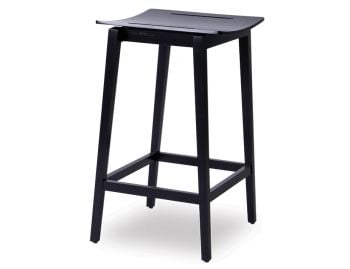 Stockholm Stool Black Stained Beechwood by Mads Johansen for TON image