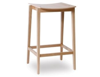 Stockholm Stool Natural European Oak by Mads Johansen for TON image