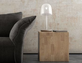 Mona Table Lamp in White by Lucie Koldova for Brokis image