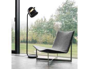 Mona Tall Floor Lamp in Black by Lucie Koldova for Brokis image