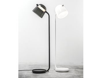 Mona Tall Floor Lamp in White by Lucie Koldova for Brokis image