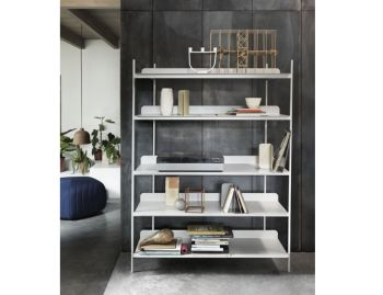 Compile Shelving System in Grey by Cecilie Manz for Muuto image