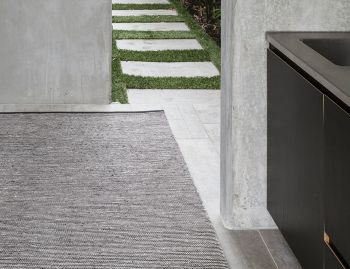Dune Weave Coal & Limestone Indoor/Outdoor Rug by Armadillo & Co image