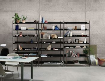 Compile Shelving System in Black by Cecilie Manz for Muuto image